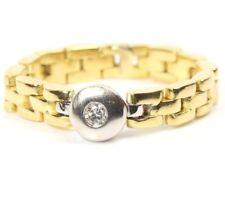 ♦♦ 18kt 750 Brillantring Brillant Gold Ketten Ring Kettenring Goldring Brilliant