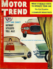 1954 MOTOR TREND July FRANKLIN cars Ford 6 PORSCHE Nash Cadillac 62 Fiat GOLIATH