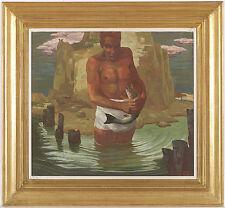 "Erwin Stolz (1896-1987), ""Fish Catch"", Tempera, 1920s"