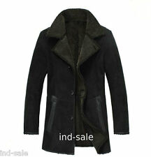 Custom Tailor Made Genuine Blazer Pea Coat Suede Fur LEATHER JACKET EDH
