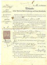 TIMBRES FISCAUX TITRE DE CONSSESSION CIMETIERE 1899 St LOUIS OCCUP. ALSACE LORRA