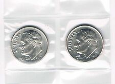 2017 P&D ROOSEVELT DIMES - BRILLIANT UNCIRCULATED FROM BANK ROLLS