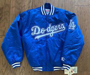 NWT Los Angeles Dodgers Vintage Starter Diamond Collection Bomber Jacket Large