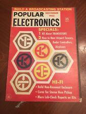 Vintage Popular Electronics Magazine November 1962 Ads Transistors Hi-Fi