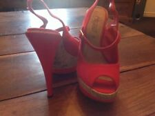 New Look Patternless Canvas Heels for Women