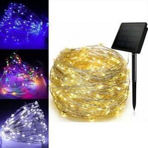 Solar String Light Lights Waterproof Copper Wire Fairy Outdoor Garden Party