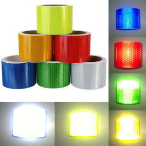 "Night Reflective Safety Warning Conspicuity Roll Tape Film Sticker 2"" 1M/3M"