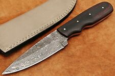 Custom Handmade Rain Drop Damascus Steel Drop Point Hunting Knife DE467