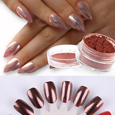 Rose Gold Nail Mirror Powder Nails Glitter Chrome Powder Nail Art Decoration DIY