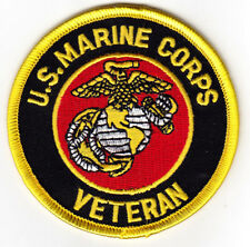 """U. S. MARINE CORPS VETERAN""  Iron On Patch Military USMC Duty Honor Patriotic"