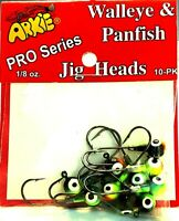 Arkie FireTiger 1/8 oz. Jig Heads -Walleye & Panfish Fishing Jigs (10 pak)