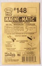 Kadee #148 pack - Magne-Matic metal couplers + draft boxes HO/OO scale (2 pair)