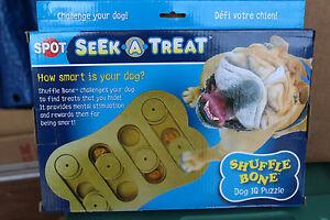"Spot/Ethical Seek-a-Treat "" Shuffle Bone ""  Dog IQ Treat Puzzle new in box"