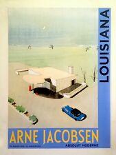 """ARNE JACOBSEN LITHO PRINT DENMARK MUSEUM EXHBTN POSTER """" SERVICE STATION """" 1937"""