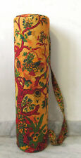 Yoga Mat Bag Yellow Tree Of Life Gym Mat Carrier Tie Dye Bag With Shoulder Strap
