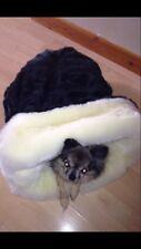 CHIHUAHUA PUPPY DOG BLACK & CREAM LUXURY PET BED SNUGGLE SACK SAK SLEEPING BAG