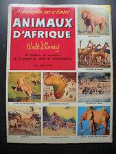 L'ENCYCLOPEDIE PAR LE TIMBRE : ANIMAUX D'AFRIQUE  WALT DISNEY  COMPLET  N° 34