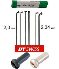 4 x dt-swiss CHAMPION 310 mm 2,0/2,34 mm DROIT TRACTION / j-bend noir/Argent