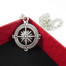 Cute Silver Charming Pendant Necklace Vintage Retro Compass