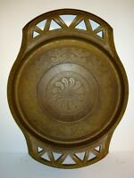 """VINTAGE Faux Wood Tray Dish Abstract Primitive DESIGNS Approximately 14"""" X 10"""""""