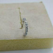 18K White Gold Silver L Shape Nose Ring Stud Hoop Clear CZDiamonds 20 gauge