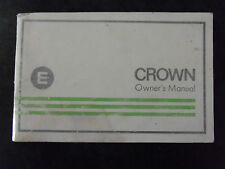 1975 TOYOTA CROWN  OWNER'S MANUAL GOOD COND. FOR AGE SEDAN WAGON COUPE UTILITY