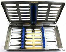 Sterilisation Cassette Rack Tray Surgical Dental 7 instruments NATRA Germany box