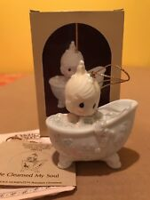 Precious Moments 1987 Ornament He Cleansed My Soul 112380