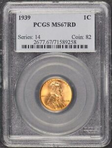 1939 1C Lincoln Cent Wheat Reverse PCGS MS67RD