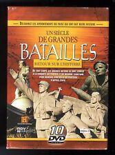 UN SIECLE DE GRANDES BATAILLES   COFFRET 10 DVD  HISTORY CHANNEL  ZONE 2