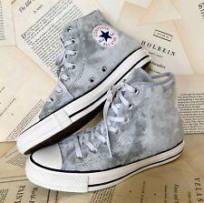 b5b8c26e521 Nuevo Converse Gris Peludo Fuzzy Hi Top Con Cordones Zapatillas deportivas  Mujer EE. UU. 6