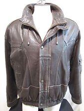 Vintage ECHTES LEDER Soft Brown & Black Lamb Leather Mens Jacket Sz 52