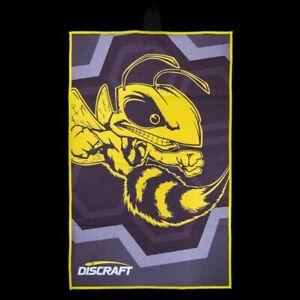 Discraft Buzzz Microfiber Disc Golf Towel   Disc Golf Drying Cloth   Buzzz Logo