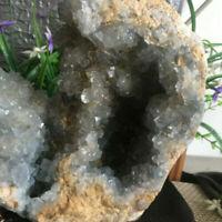 Natural Crystal Sparkling Blue Celestite Geode Mineral Specimen  3.3kg