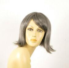 perruque femme 100% cheveux naturel grise ref ZOLA 44