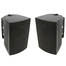 "2 Pack - TDX 6.5"" 2-Way Indoor Outdoor Black Wall Mounted Speaker Pair New"