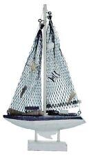 Bateau voilier design en bois filet 28 cm, achat/vente décoration maritime neuf