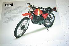 1981 Kawasaki KE125cc Sales Brochure,Genuine NOS, 2Pages.