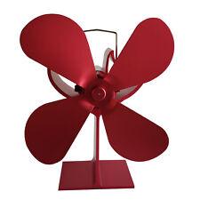 Stromloser Kaminofen Ventilator Fan 4S Gebläse rot für Holzofen Kamin Gesche