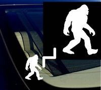 "Bigfoot Sasquatch Yeti Car Window Vinyl Decal Sticker 5.5"" Tall White"
