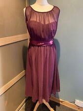 Dorothy Perkins Showcase Burgundy Midi Dress Size 12