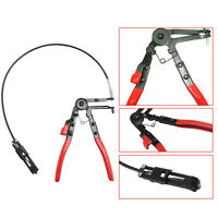 Flexible Long Reach Locking Hose Clamp Removal Pliers Ratchet Hand Tool Band