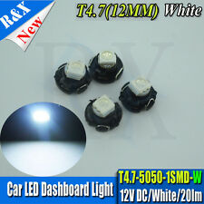 4X WHITE T4.7 LED SMD FOR VW GOLF MK4 99-2004 DASH CLOCK LIGHT BULB INTERIOR 12V