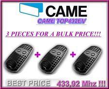 3 X CAME TOP 432 EV 2-kanal 433,92Mhz handsender, CAME fernbedienungen 3 Stücke!