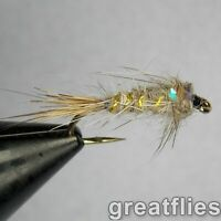 1 dozen (12) - Gold Ribbed Hare's Ear - FLASH BACK