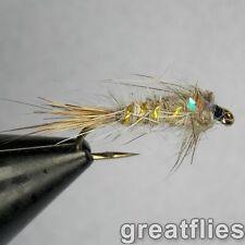 1 dozen (12) - Gold Ribbed Hare's Ear - Flash Back