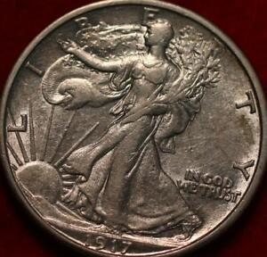 1917-S Rev San Francisco Mint Silver Walking Liberty Half