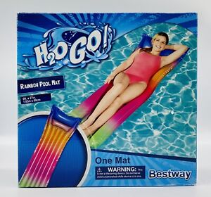 BESTWAY H2O GO! Inflatable Rainbow Pool Mat Lounge Float 6 Feet