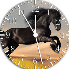 Black Horse Frameless Borderless Wall Clock Nice For Gifts or Decor W57