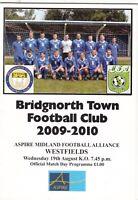 Bridgnorth Town v Westfields 2009/10 (19 Aug) Midland Football Alliance